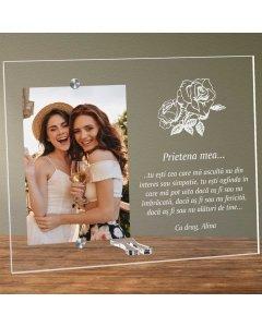 Cadou personalizat rama plexiglas - Prietena mea | Ghizbi.ro