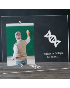 Cadou personalizat rama plexiglas - Profesor de biologie | Ghizbi.ro