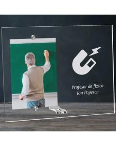 Cadou personalizat rama plexiglas - Profesor de fizica | Ghizbi.ro