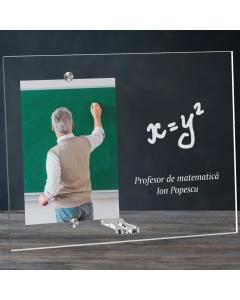 Cadou personalizat rama plexiglas - Profesor de matematica | Ghizbi.ro