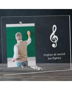 Cadou personalizat rama plexiglas - Profesor de muzica | Ghizbi.ro