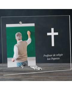 Cadou personalizat rama plexiglas - Profesor de religie   Ghizbi.ro