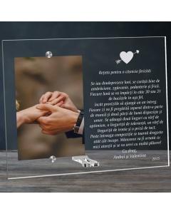 Cadou personalizat rama plexiglas - Reteta pentru o casnicie fericita | Ghizbi.ro