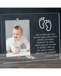 Cadou personalizat rama plexiglas - Sunt un bebe super tare | Ghizbi.ro