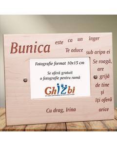 Cadou personalizat rama din lemn - Ce este o bunica   Ghizbi.ro