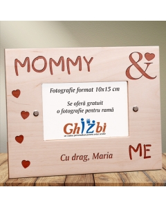 Cadou personalizat rama din lemn - Mommy & me | Ghizbi.ro