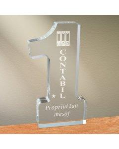 Cadou personalizat trofeu plexiglas cifra - Cel mai bun contabil | Ghizbi.ro