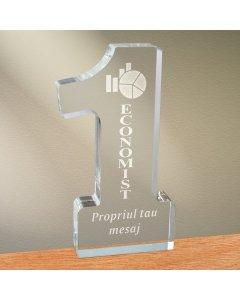 Cadou personalizat trofeu plexiglas cifra - Cel mai bun economist   Ghizbi.ro