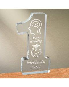 Cadou personalizat trofeu plexiglas cifra - Doctor neurolog | Ghizbi.ro