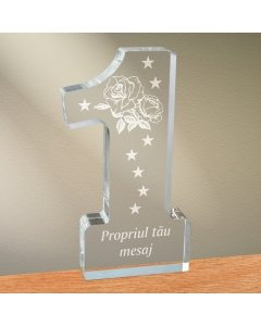 Cadou personalizat trofeu plexiglas cifra - Trandafir   Ghizbi.ro