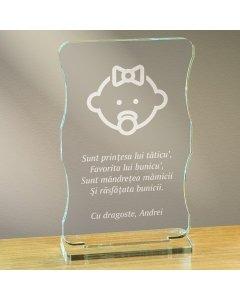 Cadou personalizat trofeu plexiglas cu suport - Cine sunt | Ghizbi.ro