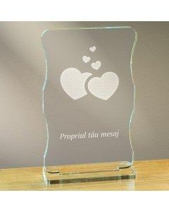 Cadou personalizat trofeu plexiglas cu suport - Din dragoste | Ghizbi.ro