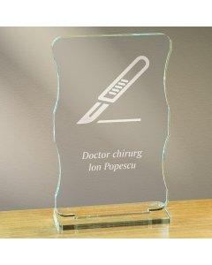 Cadou personalizat trofeu plexiglas cu suport - Doctor chirurg | Ghizbi.ro