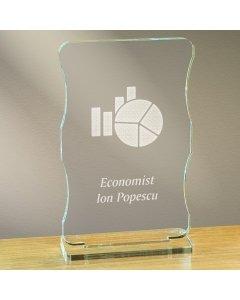 Cadou personalizat trofeu plexiglas cu suport - Economist   Ghizbi.ro