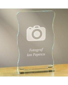 Cadou personalizat trofeu plexiglas cu suport - Fotograf | Ghizbi.ro
