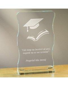Cadou personalizat trofeu plexiglas cu suport - Nu inceta sa urci | Ghizbi.ro