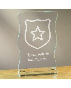 Cadou personalizat trofeu plexiglas cu suport - Politist | Ghizbi.ro