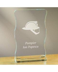 Cadou personalizat trofeu plexiglas cu suport - Pompier | Ghizbi.ro