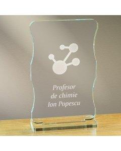 Cadou personalizat trofeu plexiglas cu suport - Profesor de chimie | Ghizbi.ro