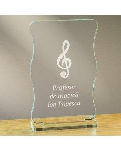 Cadou personalizat trofeu plexiglas cu suport - Profesor de muzica | Ghizbi.ro