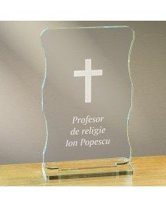 Cadou personalizat trofeu plexiglas cu suport - Profesor de religie   Ghizbi.ro