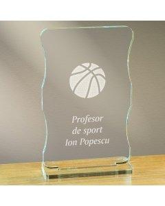 Cadou personalizat trofeu plexiglas cu suport - Profesor de sport | Ghizbi.ro