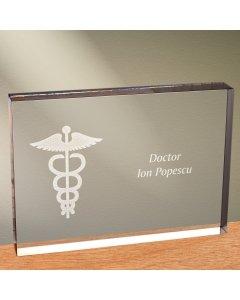 Cadou personalizat trofeu plexiglas dreptunghiular - Doctor | Ghizbi.ro