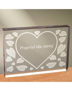 Cadou personalizat trofeu plexiglas dreptunghiular - Esti totul pentru mine | Ghizbi.ro