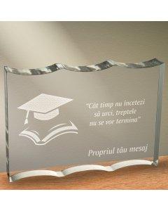 Cadou personalizat trofeu plexiglas ondulat - Nu inceta sa urci | Ghizbi.ro