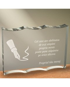 Cadou personalizat trofeu plexiglas ondulat - Puterea mintii | Ghizbi.ro
