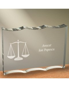 Cadou personalizat trofeu plexiglas ondulat - Avocat | Ghizbi.ro