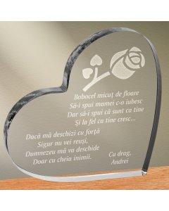 Cadou personalizat trofeu plexiglas inima - Sa ii spui mamei | Ghizbi.ro