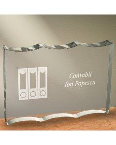 Cadou personalizat trofeu plexiglas ondulat - Contabil | Ghizbi.ro