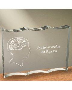 Cadou personalizat trofeu plexiglas ondulat - Doctor neurolog 2   Ghizbi.ro
