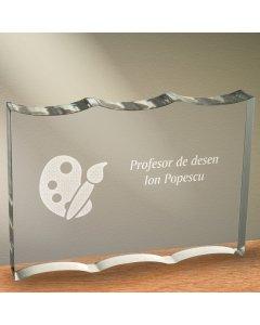 Cadou personalizat trofeu plexiglas ondulat - Profesor de desen | Ghizbi.ro