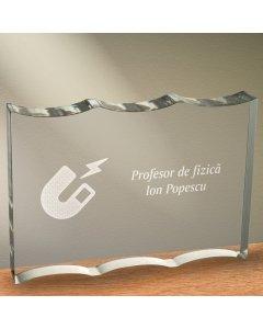 Cadou personalizat trofeu plexiglas ondulat - Profesor de fizica | Ghizbi.ro