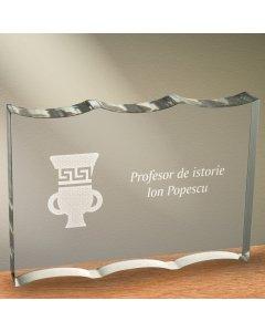 Cadou personalizat trofeu plexiglas ondulat - Profesor de istorie   Ghizbi.ro