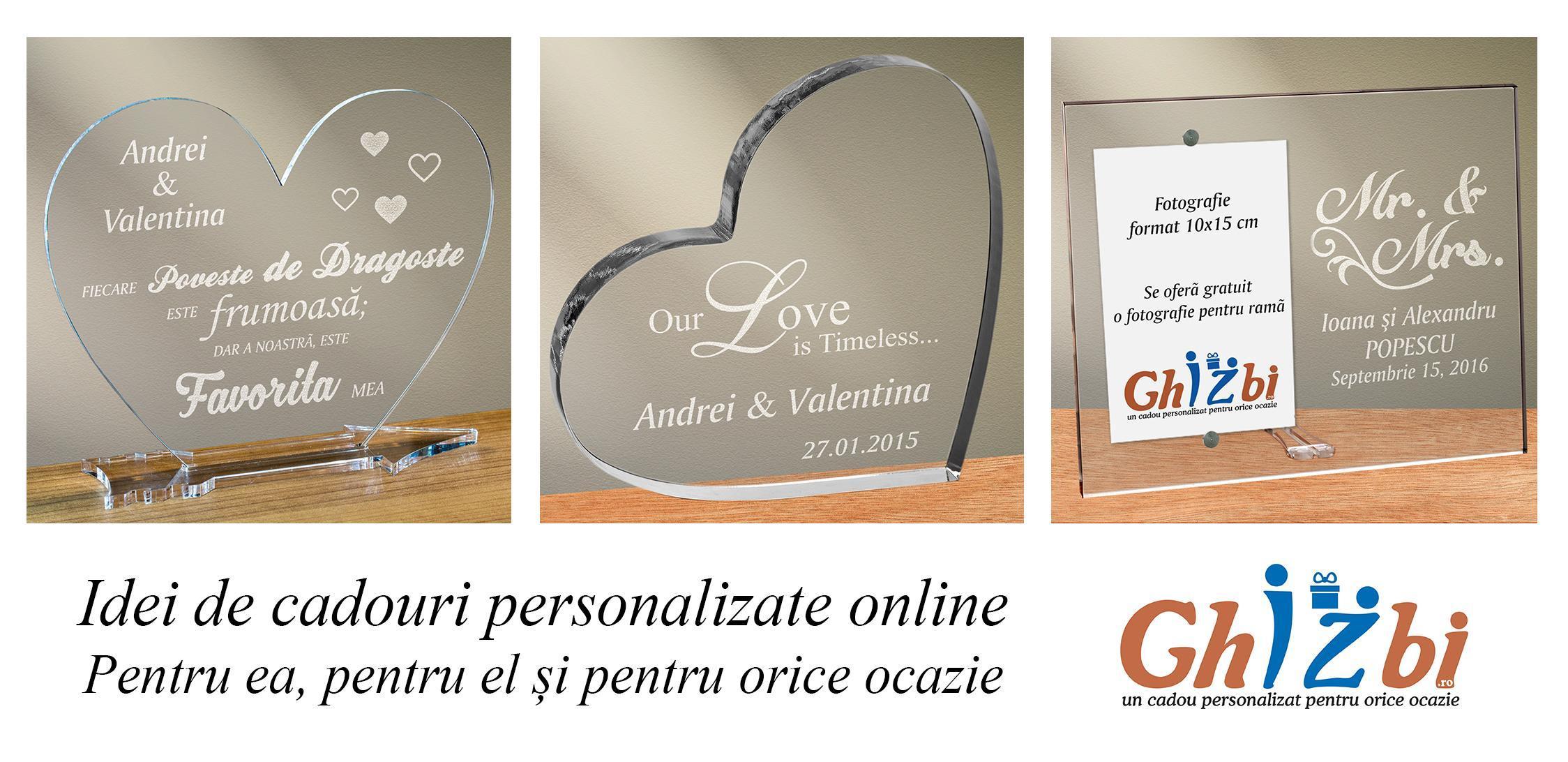 Idei de cadouri personalizate online - Pentru ea, pentru el și pentru orice ocazie