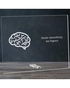 Cadou personalizat placheta din plexiglas - Doctor neurochirurg | Ghizbi.ro