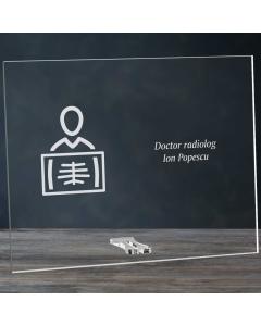 Cadou personalizat placheta din plexiglas - Doctor radiolog   Ghizbi.ro