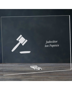 Cadou personalizat placheta din plexiglas - Judecator | Ghizbi.ro