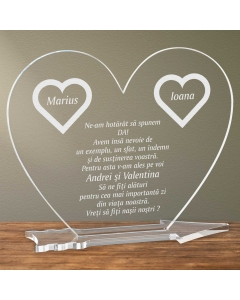 Cadou personalizat placheta plexiglas inima - Vreti sa fiti nasii nostri   Ghizbi.ro