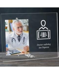 Cadou personalizat rama plexiglas -  Doctor radiolog   Ghizbi.ro