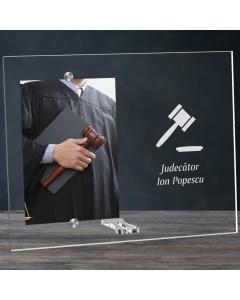 Cadou personalizat rama plexiglas -  Judecator | Ghizbi.ro