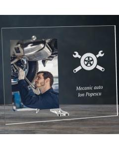 Cadou personalizat rama plexiglas -  Mecanic auto   Ghizbi.ro