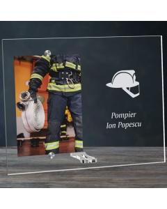 Cadou personalizat rama plexiglas -  Pompier | Ghizbi.ro