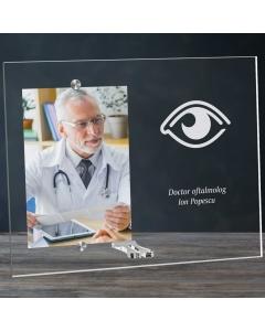 Cadou personalizat rama plexiglas -  Doctor oftalmolog | Ghizbi.ro