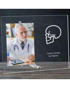 Cadou personalizat rama plexiglas -  Doctor osteolog | Ghizbi.ro