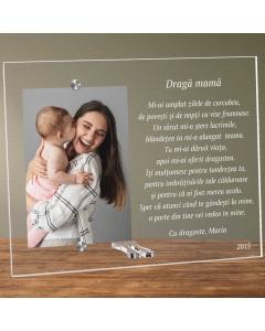 Cadou personalizat rama plexiglas - Poem pentru mama | Ghizbi.ro