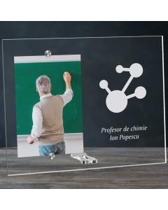 Cadou personalizat rama plexiglas - Profesor de chimie   Ghizbi.ro